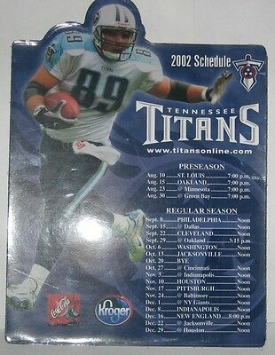 TENNESSEE TITANS 2002 FRANK WYCHECK Magnetic team Schedule