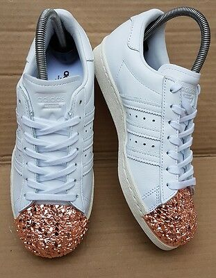 3a08fceee7 Gorgeous Adidas Superstar White / Rose Gold 3D Crackle Trainers Size 4 Uk