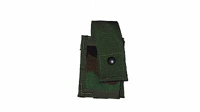Usgi Military Molle Woodland Camouflage Wc 40Mm He Single Or Flashlight Pouch