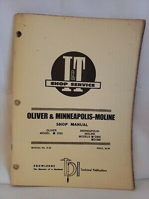 G1355 MINNEAPOLIS MOLINE Tractor Technical Service Shop Repair ... on