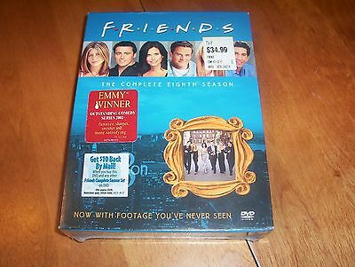 FRIENDS THE COMPLETE EIGHTH SEASON Classic TV Series Comedy DVD SET SEALED NEW