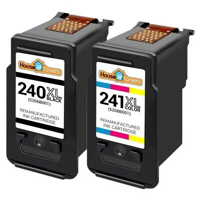 2 pk PG 240XL CL 241XL Ink Cartridge for Canon PIXMA MG and MX Series Printer