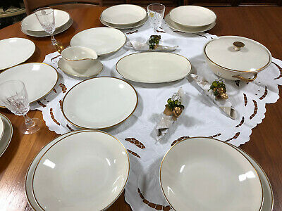 HUTSCHENREUTHER selb Service FAVORIT SpeiseService 6 Pers Terrine Goldrand 19tlg