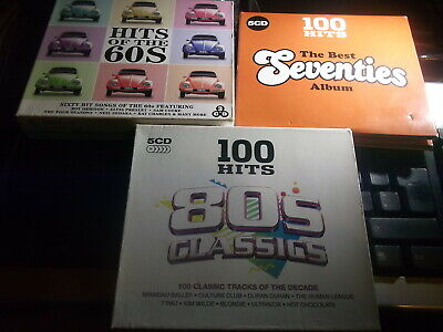 13 CDs - 100 Hits 80s Classics/100 Hits Best Seventies Album/ 60 Hits Of The 60s