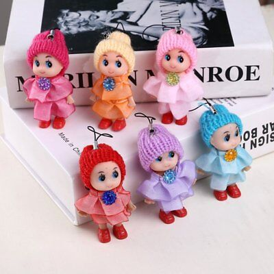 Cute Kids Child Soft Interactive Baby Doll Keychain Toy Mini Pendant Girl 5/4Pcs