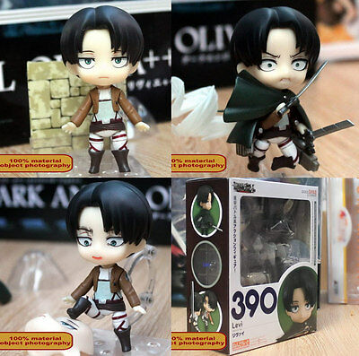 "Anime Attack On Titan Shingeki no Kyojin Levi 4"" cute figure face changeable Toy"