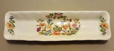 Aynsley Made In England Fine English Bone China COTTAGE GARDEN Mint Dish