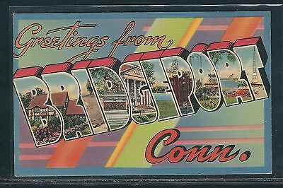 """Large Letter Postcard - Connecticut - """"Greetings From Bridgeport"""""""
