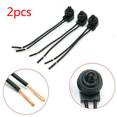 12V Waterproof Push Button On Off Switch with Leads Car Motorcycle outdoor x2 ~
