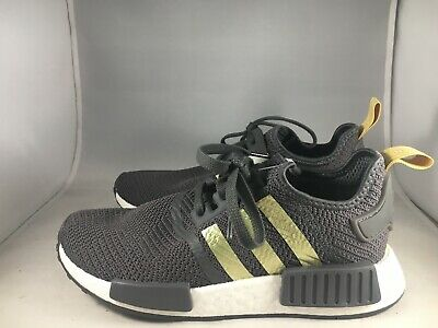 best website 67224 887ce ADIDAS NMD R1 Womens Size 6 Running Shoes Grey Gold B37651