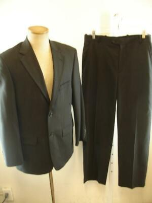 Mens 38R Pronto Uomo Comfort Stretch Charcoal Gray Wool 2-Pc Suit Pants 31 X 32