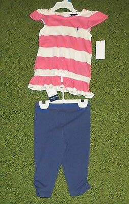 Ralph Lauren Baby Girls Outfit (Top & Pants) - Size 24 Months - NWT