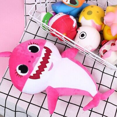 Kids Baby Plush Shark Singing English Songs Toys Cartoon Music Doll Musical Toys