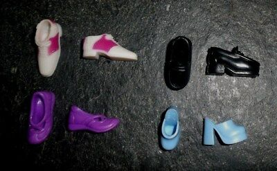 BARBIE DOLL SHOES c13 - 4 PAIRS of ASSORTED CASUAL SHOES
