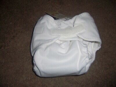Thirsties Duo cloth diaper w/ doubler new white Pocket size two 9-36 months