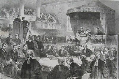 1887 Two Large Prints- LAND WAR IN IRELAND - Conspiracy Trial & Parnell Inquiry