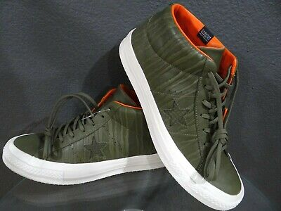 e08998762883 Men s Converse One Star Counter Climate Mid Olive White 158836C Size 12