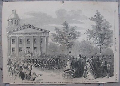 1861 Harper's Weekly Engravings- CIVIL WAR - Cairo, Illinois - Camp Slifer, Penn