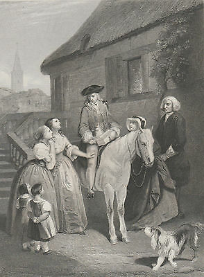 1845 Three Antique Engravings -The Vicar of Wakefield -The Confession - A. Payne