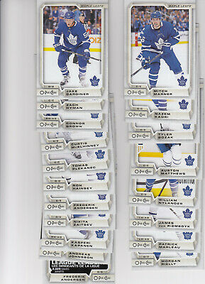 18/19 OPC Toronto Maple Leafs Team Set w/RC and Insert - Matthews Marner +