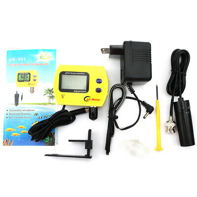 Mini Digital LCD PH & TEMP Meter Water Quality Monitor PH Tester Aquarium ATC