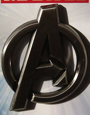 Disney Marvel  Avengers Pewter A Logo Pin NEW ON ORIGINAL CARD