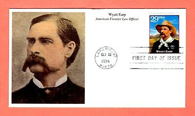 1994 #2869j 29c Wyatt Earp - Legends West Mystic cachet FDC