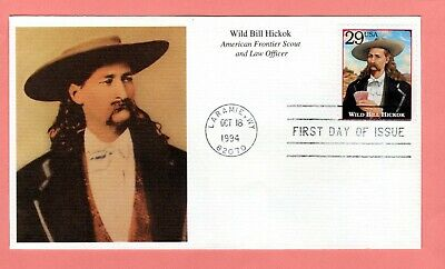 1994 #2869o 29c Wild Bill Hickok - Legends West Mystic cachet FDC