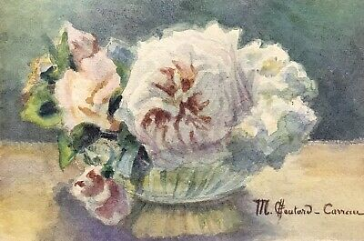MARIE CHAUTARD-CARREAU - FINE EARLY 20thC FRENCH IMPRESSIONIST - FLOWERS IN BOWL