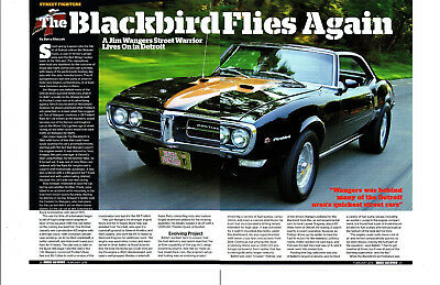 1968 PONTIAC FIREBIRD 440/500 Hp -- Jim Wagners ~ Great 4-Page Article / Ad