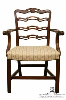 1940's ANTIQUE VINTAGE Mahogany Duncan Phyfe Ladderback Dining Arm Chair