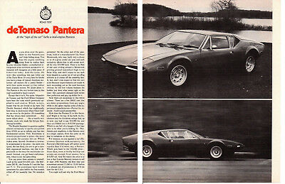 1971 De Tomaso Pantera 351/310 Hp ~ Original 4-Page Road Test / Article / Ad