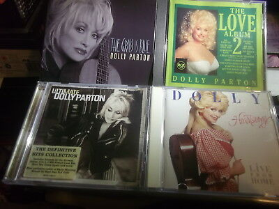 4 DOLLY PARTON CDs - Grass Is Blue/ Heartsongs[Live]/ Love Album 2/Ultimate.MINT