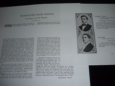 FRED FRANZ 1911 HIGH SCHOOL Bible Student C.T.Russell Jehovah Watchtower IBSA