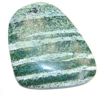 Natural Green zebra jasper 85.2ct loose stone from SilverRush Style