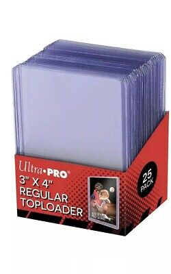 Pack of 25 Ultra Pro 3x4 Regular Top Loaders + Pack 100 Soft Sleeves