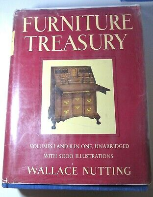 FURNITURE TREASURY VOLUMES I AND II By Wallace Nutting  Hardback Dustcover VG