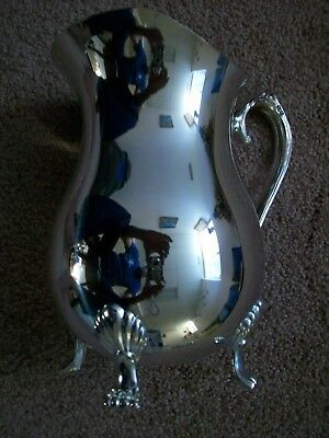 BRAND NEW IN BOX Vintage Silver Plate Footed Water Pitcher with Ice Guard