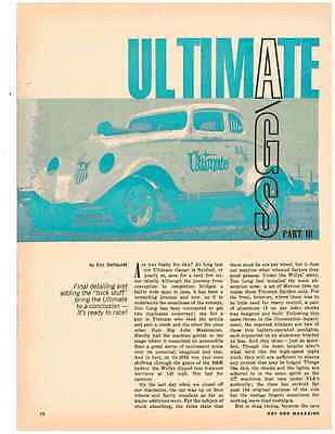 1966 Willys Gasser 327 Chevy  -  Don Eisner  ~  Nice 2-Page Article / Ad