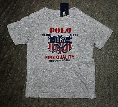 Polo Ralph Lauren Toddler Boys Gray T-Shirt - Size 4T - NWT