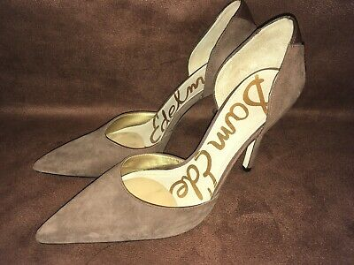 6b0e72544 Sam Edelman Delilah D Orsay Brown Suede Pointed Toe Heel Pump size 8 Minty