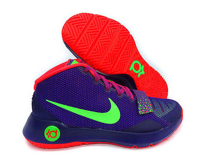 promo code bb3ce aeada NEW Mens Nike KD Trey 5 III Basketball Shoes Court Purple Green Crimson