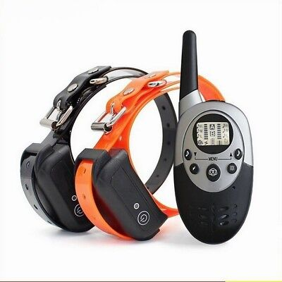 500m LED Electric Shock Dog Training Collar Rechargeable With Remote Control