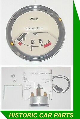 SMITHS VOLTMETER/BATTERY CONDITION MAGNOLIA faced Classic Gauge