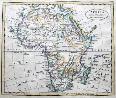 AFRICA  BY BENJAMIN BAKER  c1797 GENUINE ANTIQUE ENGRAVED MAP