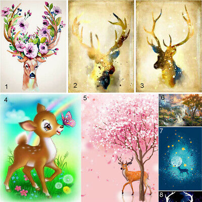 Cartoon Characters Deer DIY 5D Diamond Painting Full drill Fashion Decor //2004