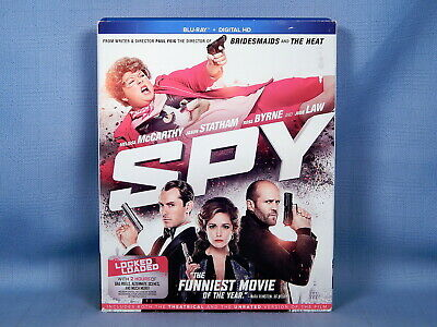 Spy - Melissa McCarthy & Jude Law (Blu-ray) Like New with Slipcover