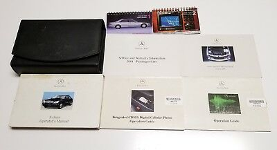 2001 mercedes benz s-class owners manual s430 s500 s600 s55 amg luxury sedan