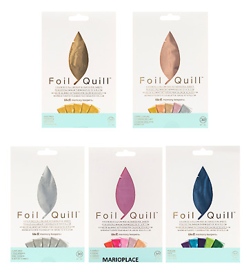 We R Memory Keepers Foil Quill  30 pk 4''x6'' Foil Sheets You Choose NEW