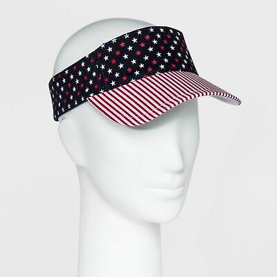 Mossimo #a46 Clear Cap Red Blue Adjustable Women/'s  Sun Visor